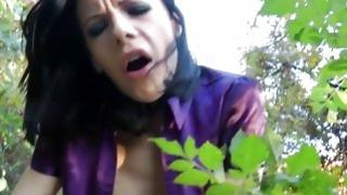 Sexually aroused dude is taking away this girlfriend's panties before fucking her