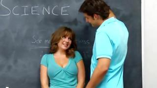 Depraving coed is jumping brutally on her bad teacher's ribald johnson