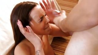 Brunette hair gf hollering in all respects her butt puncture hole is poked doggy impressiveness
