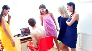 Watch my gf take part in a most dirty wild gangbang