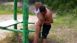 Randy guy is inserting his powerful willy inside the mouth of scrumptious blonde temptress