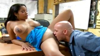 Passionately sweet bitch with giant boobs looks perfect