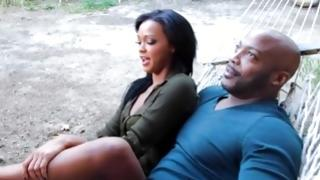 Seductive bitch came to her black boyfriend for fucking