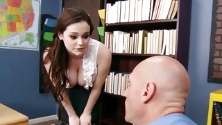 Pale skinned young girl is posing during fine fucking