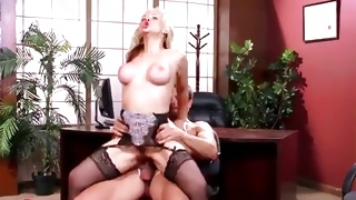 Brutal guy is licking her legs while fucking pretty cunt