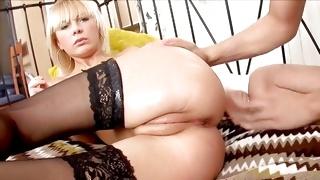They stuffed cigarette in her miniature cute anal