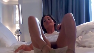Messy whore gets her anal fingered by brutal fellow