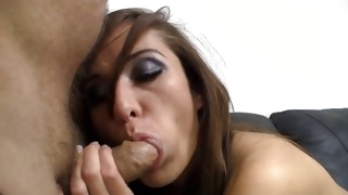 Nice babe sitting on casting coach about to fuck